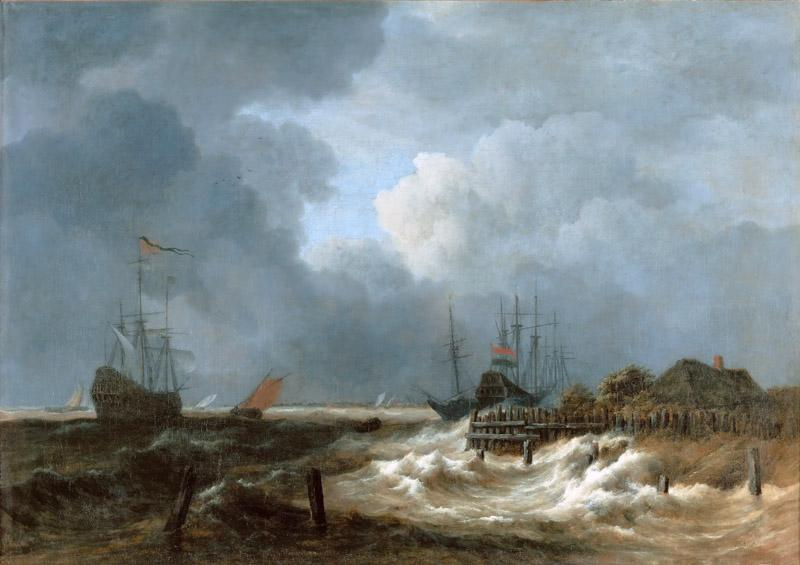 Jacob van Ruisdael (1628 or 1629-1682) -- The Storm