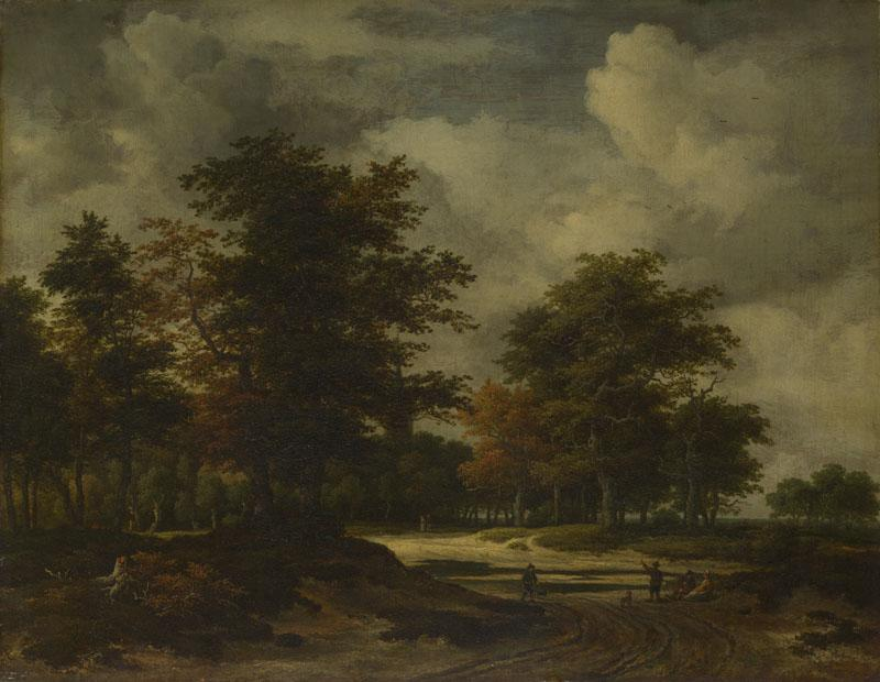 Jacob van Ruisdael - A Road leading into a Wood