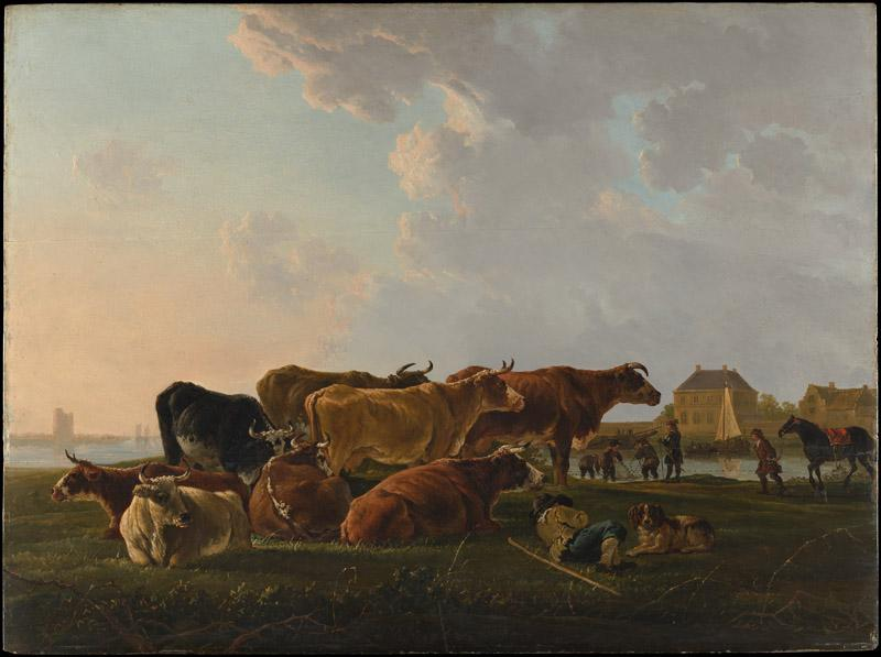 Jacob van Strij--Landscape with Cattle