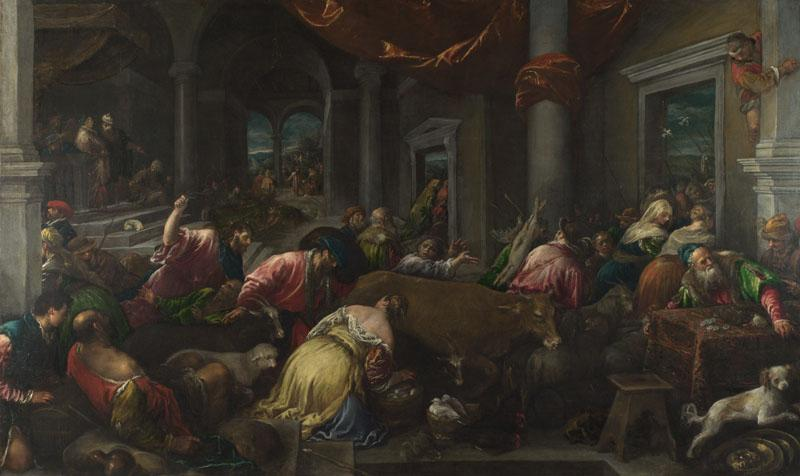 Jacopo Bassano and workshop - The Purification of the Temple