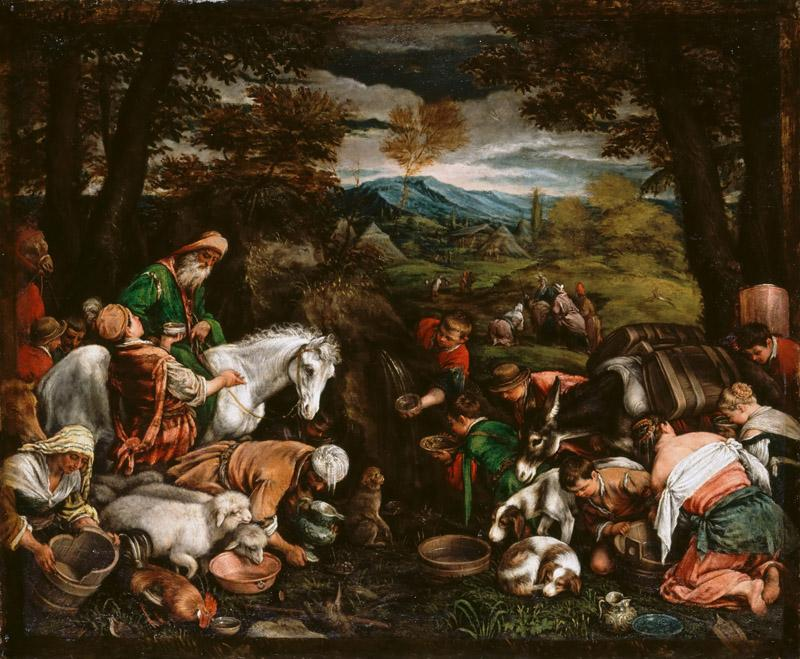 Jacopo Bassano il Vecchio -- Striking the rock