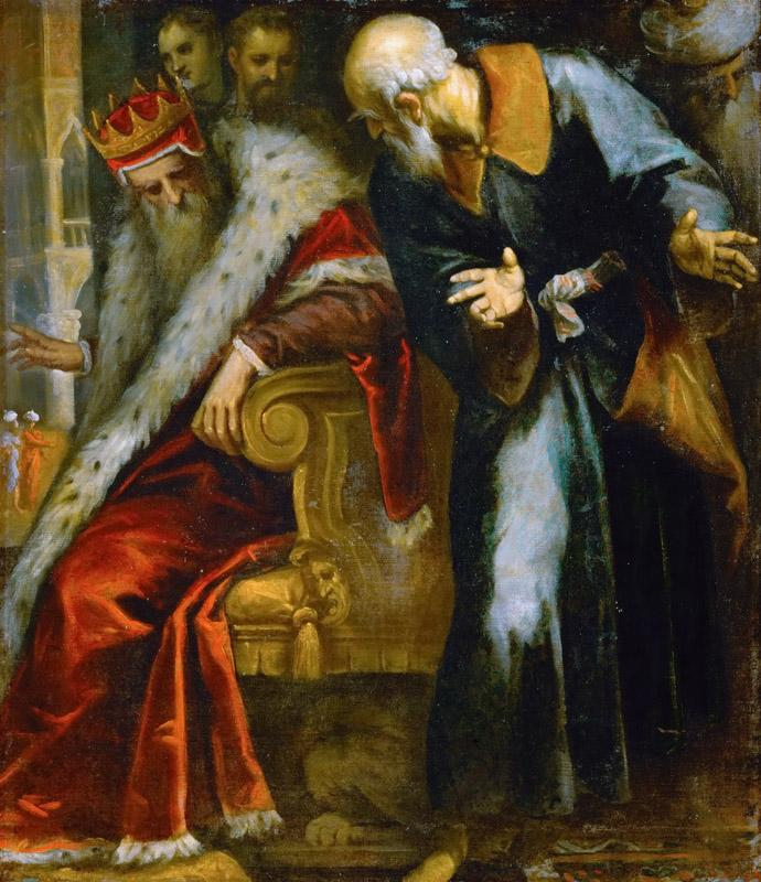 Jacopo Palma, il giovane -- The Prophet Nathan admonishes King David