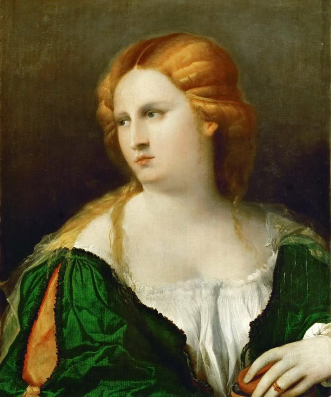Jacopo Palma, il vecchio -- The Lady in the green dress