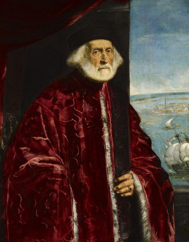 Jacopo Robusti (Il Tintoretto) - Portrait of a Venetian Procurator, 16th century