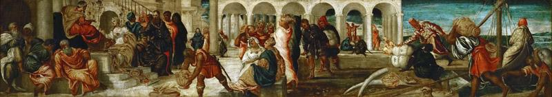 Jacopo Tintoretto -- The Queen of Sheba before Solomon