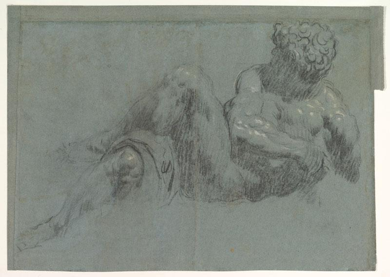 Jacopo Tintoretto--Study after Michelangelo Giorno