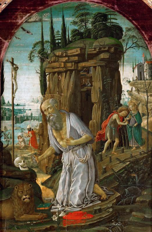 Jacopo del Sellaio(1441-1493)-Saint Jerome
