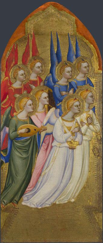 Jacopo di Cione and workshop - Seraphim, Cherubim and Adoring Angels