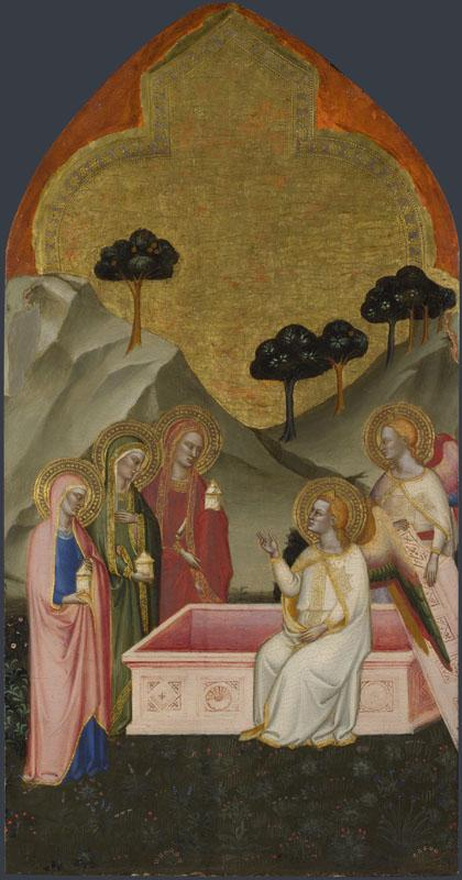 Jacopo di Cione and workshop - The Maries at the Sepulchre