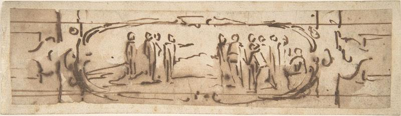 Jacques Callot--Drawing for a Cartouche