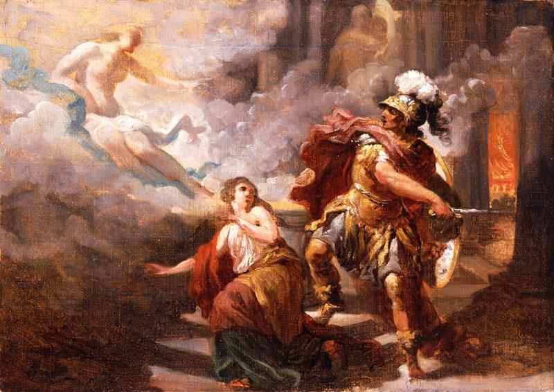 Jacques Sablet - Helen Saved by Venus from the Wrath of Aeneas