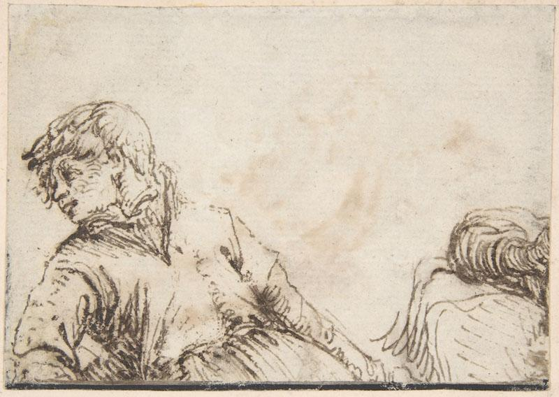 Jacques de Gheyn II--Study of a Youth with his Head Turned