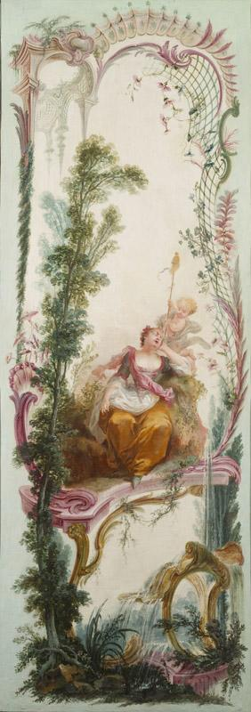Jacques de LaJoue - Seven Decorative Panels Mounted in a Screen Shepherdess Asleep, c.1730-1740