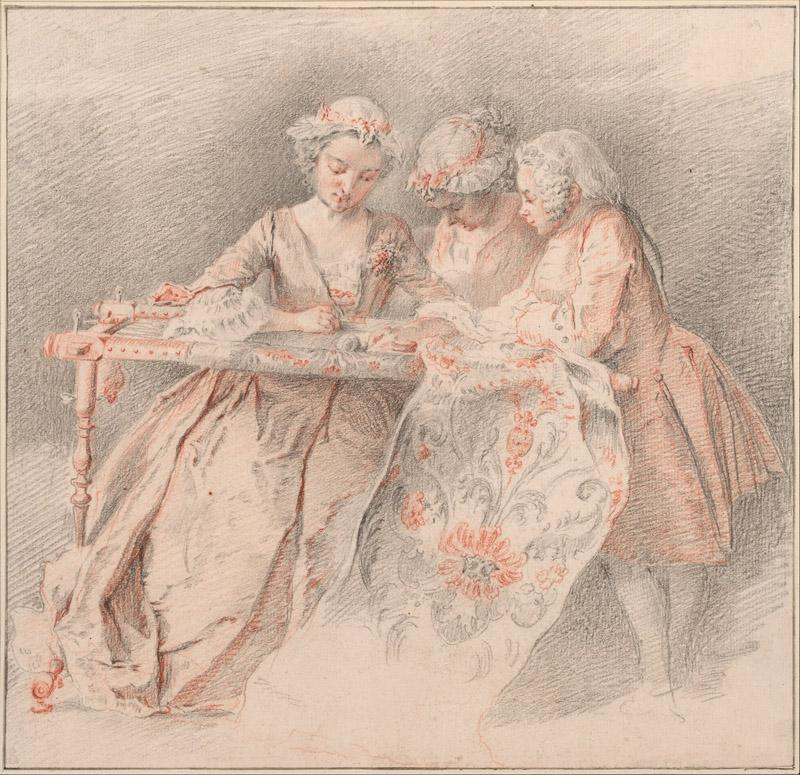 Jacques-Andre Portail (1695 - 1759) (French)-The Embroiders