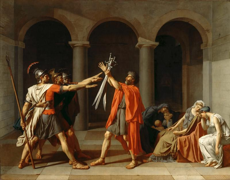 Jacques-Louis David -- The Oath of the Horatii