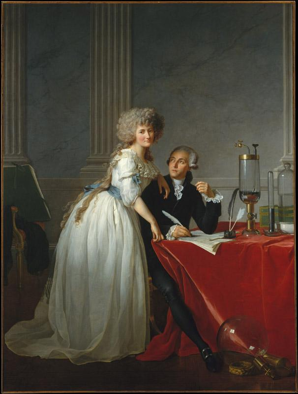 Jacques-Louis David--Antoine-Laurent Lavoisier (1743-1794) and His Wife