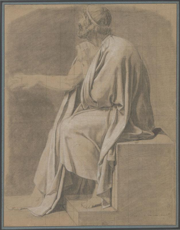 Jacques-Louis David--Figure Study for The Death of Socrates