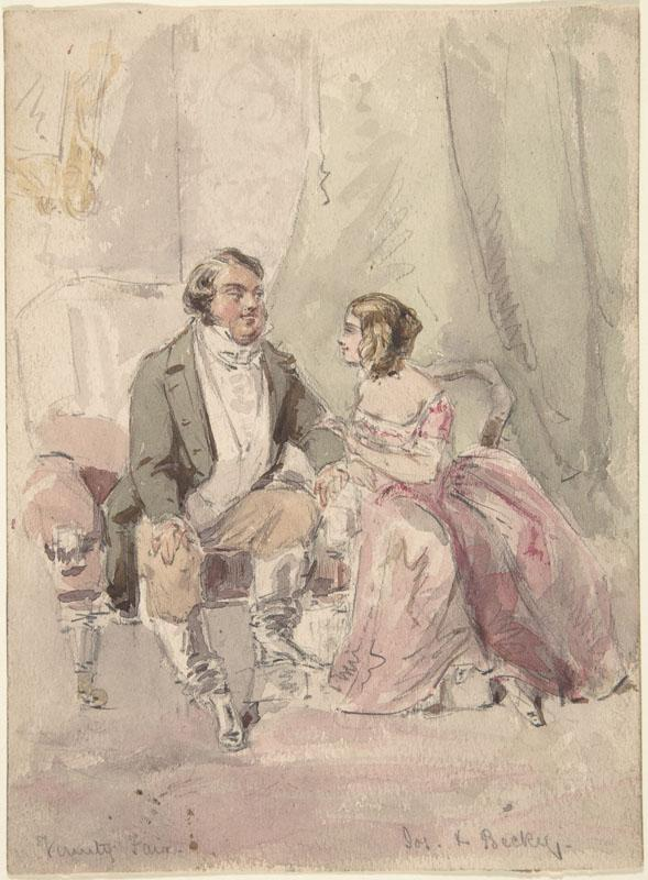James Barret--Drawings for scenes from Vanity Fair Jos and Becky