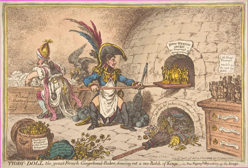 James Gillray--Tiddy-Doll, the Great French-Gingerbread-Baker