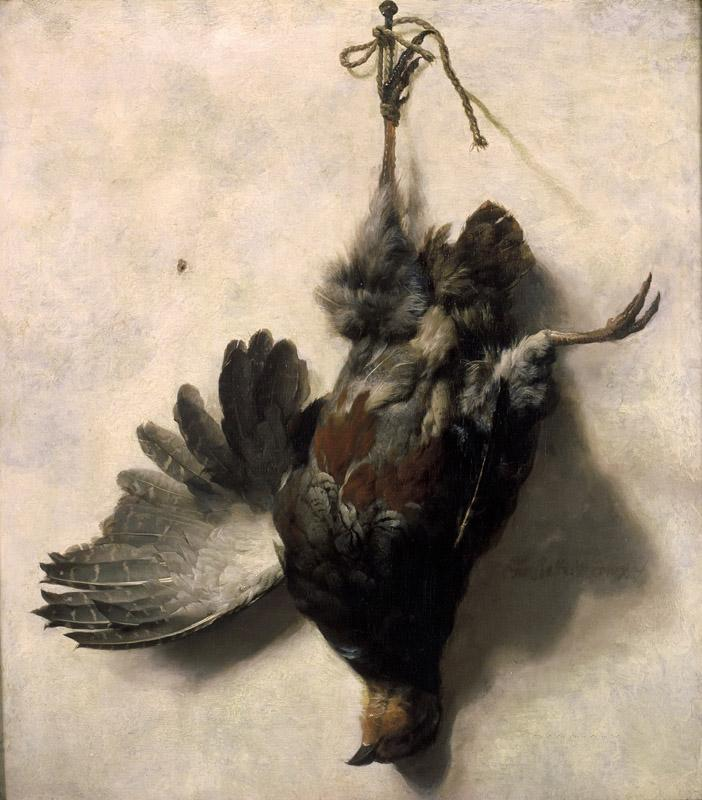 Jan Baptist Weenix - Dead Partridge Hanging from a Nail