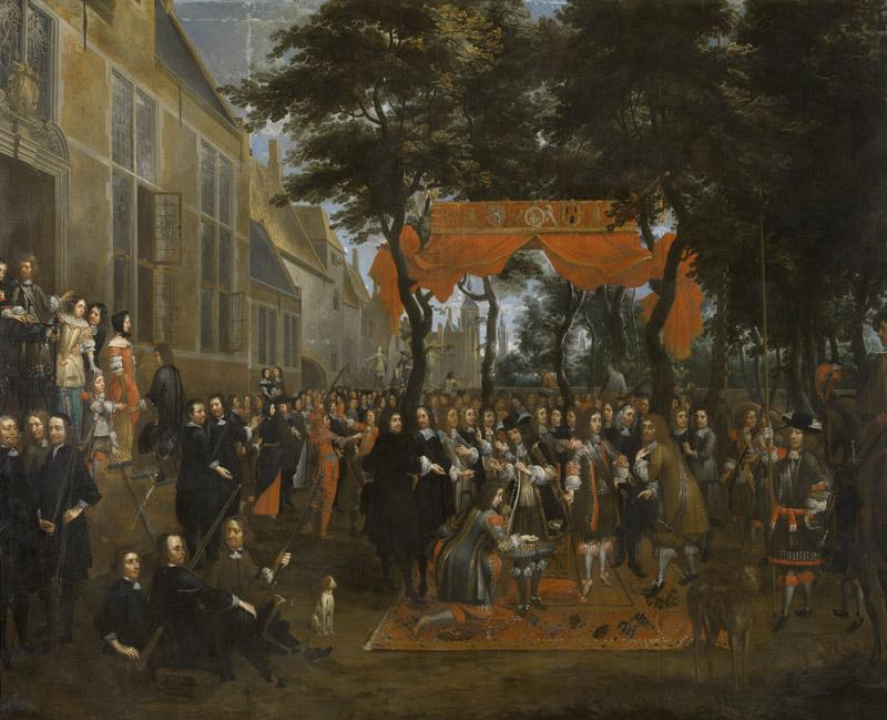 Jan Baptist van Meunincxhove - The Reception of Charles II and his Brothers
