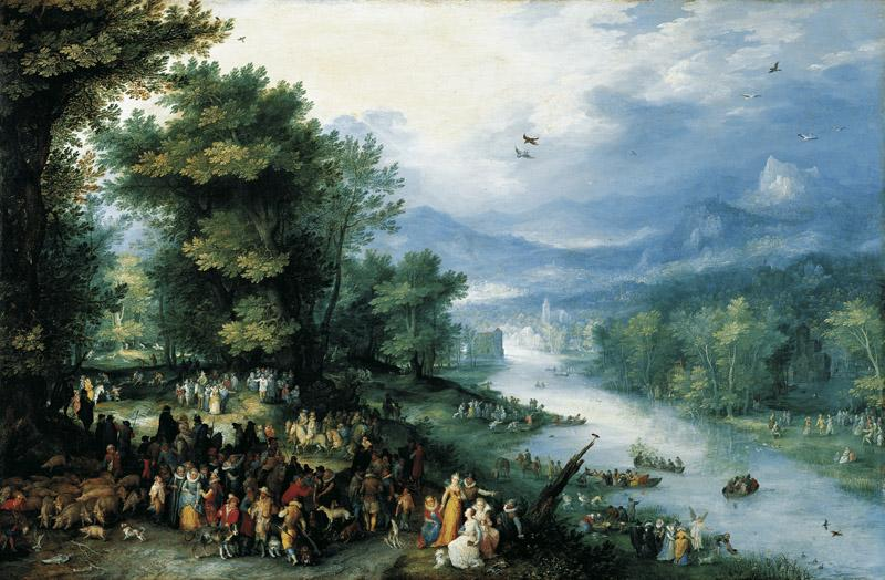 Jan Brueghel the Elder - Landscape with Young Tobias, 1598