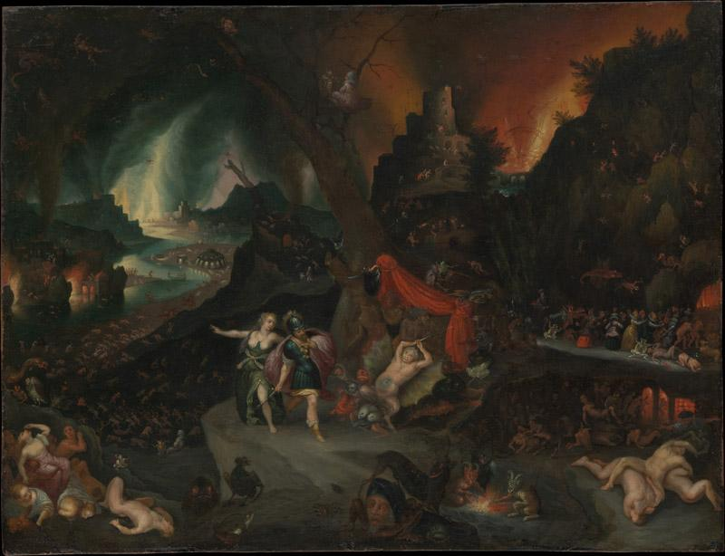 Jan Brueghel the Younger--Aeneas and the Sibyl in the Underworld