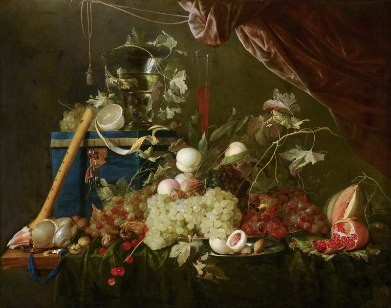 Jan Davidsz de Heem - Sumptuous Fruit Still Life with Jewellery Box