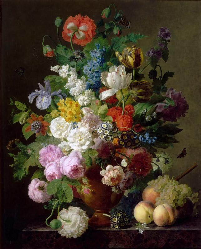 Jan Frans van Dael -- Vase of flowers