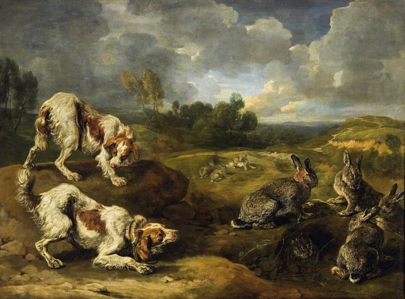 Jan Fyt (Joannes Fijt) - Hunting Dogs and Wild Rabbits