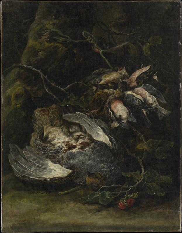 Jan Fyt--A Partridge and Small Game Birds