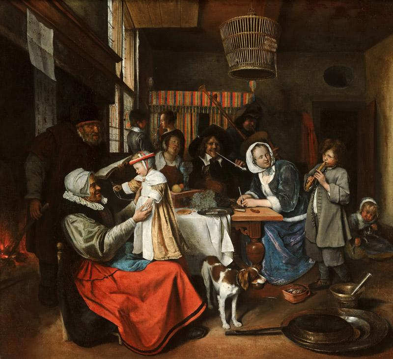 Jan Steen - As the Old Sing, so Pipe the Young2