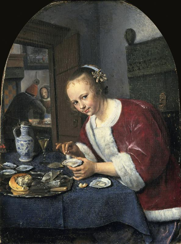 Jan Steen - Girl Eating Oysters