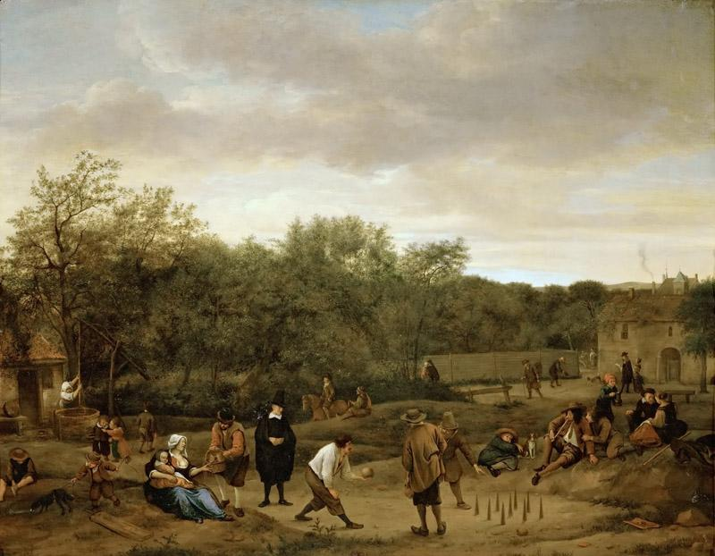 Jan Steen -- Farmers Playing at Skittles