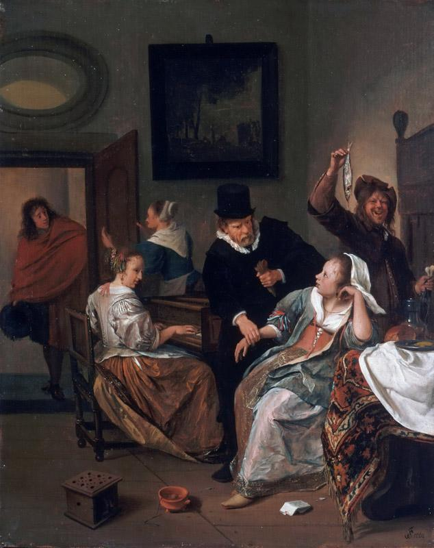 Jan Steen, Dutch (active Leiden, Haarlem, and The Hague), 1625-26-1679 -- The Doctor Visit