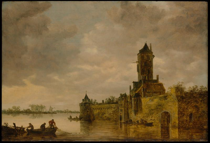 Jan van Goyen--Castle by a River