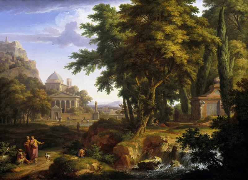 Jan van Huysum - Arcadian Landscape with Saints Peter and John Healing the Lame Man