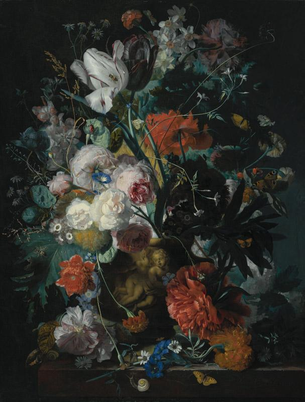 Jan van Huysum - Vase of Flowers, ca. 1720