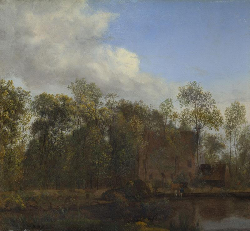 Jan van der Heyden - A Farm among Trees