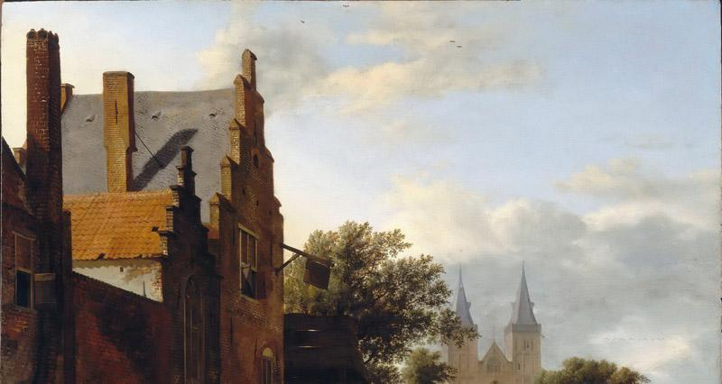 Jan van der Heyden, figures by Adriaen van de Velde -- Saint Victor Cathedral and Square