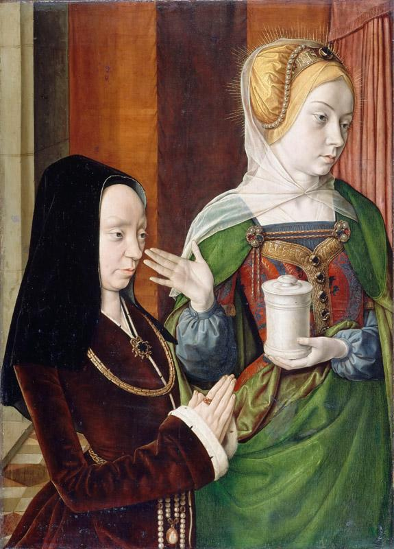 Jean Hey -- Madeleine de Bourgogne Presented by Saint Mary Magdalene