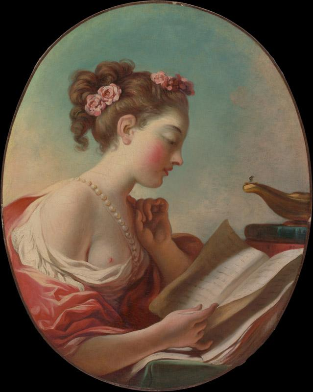 Jean Honore Fragonard--Young Woman Reading