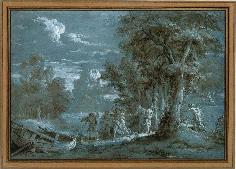 Jean Jacques Lagrenee--Landscape with a Scene from Fenelon