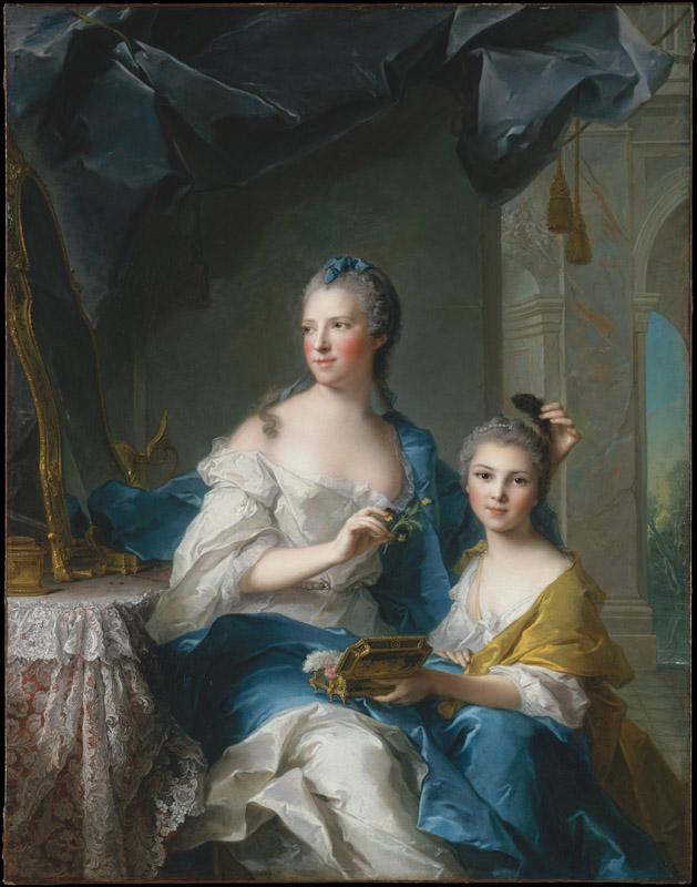 Jean Marc Nattier--Madame Marsollier and Her Daughter