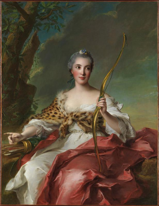 Jean Marc Nattier--Madame de Maison-Rouge as Diana