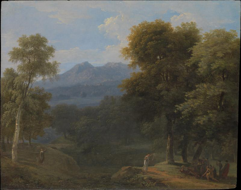 Jean Victor Bertin--Classical Landscape with Figures