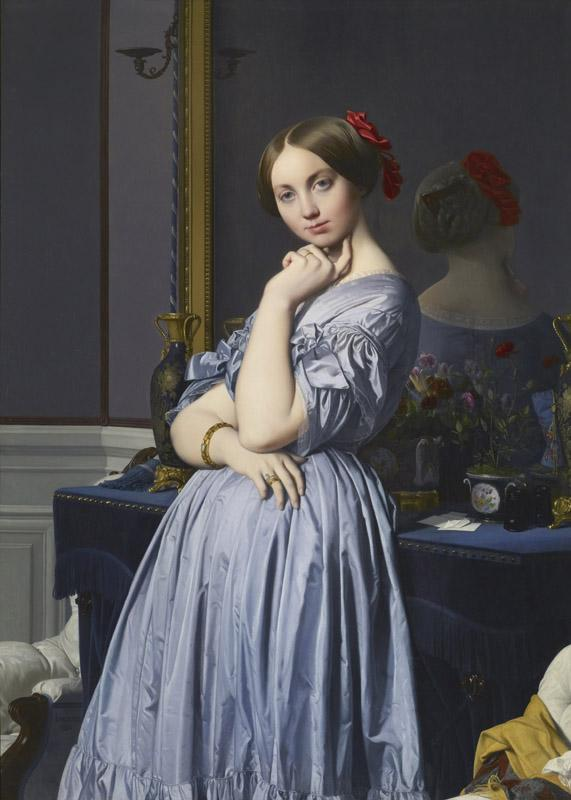 Jean-August-Dominique Ingres - Comtesse d Haussonville, 1845