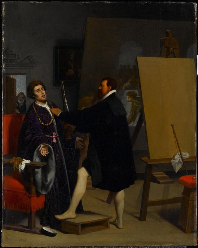 Jean-Auguste-Dominique Ingres--Aretino in the Studio of Tintoretto