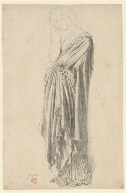Jean-Auguste-Dominique Ingres--Study for the Figure of Stratonice