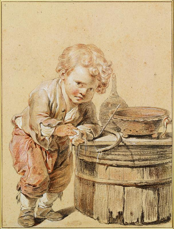 Jean-Baptiste Greuze (1725-1805)-Boy with a Broken Egg, c